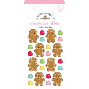 Doodlebug COOKIES AND CANDIES Shape Enamel Sprinkles 6443