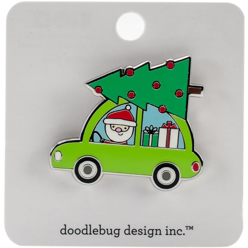 Doodlebug HERE COMES SANTA Collectible Enamel Pin 5416 Preview Image