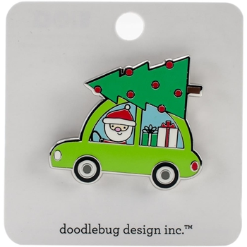 Doodlebug HERE COMES SANTA Collectible Enamel Pin 5416