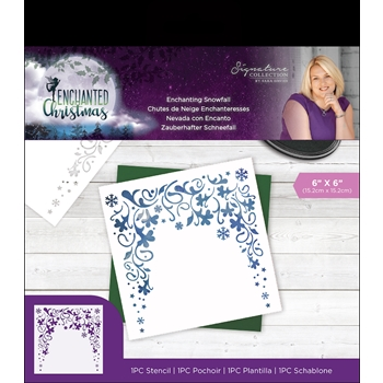 Crafter's Companion ENCHANTING SNOWFALL Enchanted Christmas Stencil s-ec-sten-esno