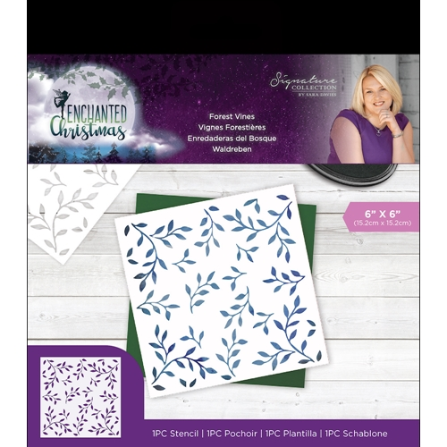 Crafter's Companion FOREST VINES Enchanted Christmas Stencil s-ec-sten-forv Preview Image