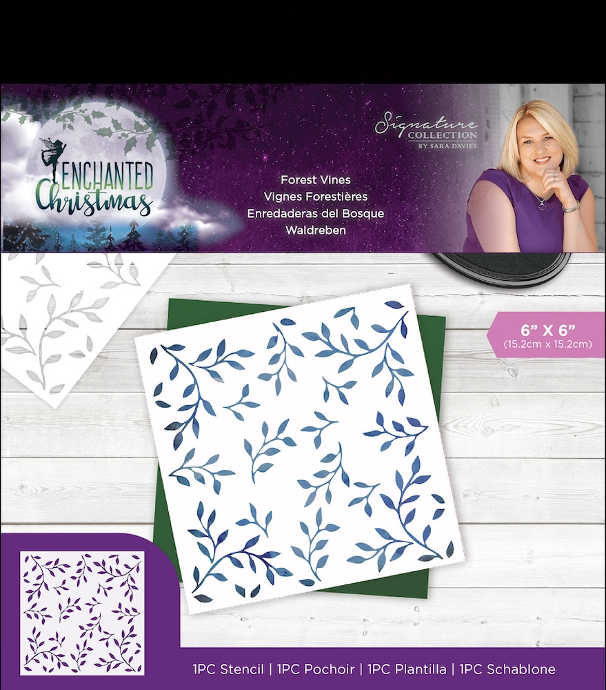 Crafter's Companion FOREST VINES Enchanted Christmas Stencil s-ec-sten-forv zoom image