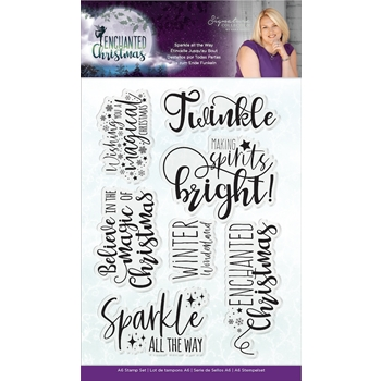 Crafter's Companion SPARKLE ALL THE WAY Enchanted Christmas Clear Stamps s-ec-st-satw