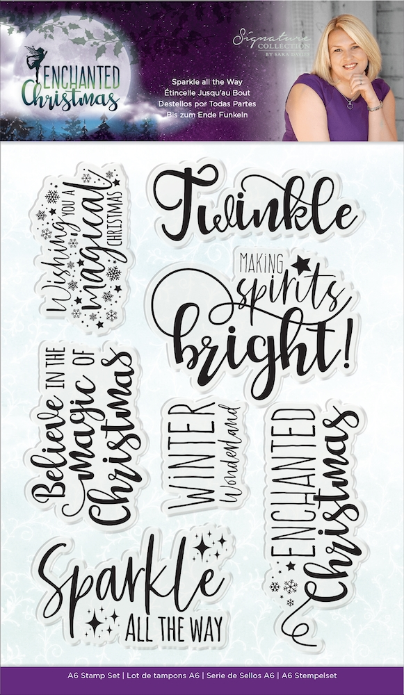 Crafter's Companion SPARKLE ALL THE WAY Enchanted Christmas Clear Stamps s-ec-st-satw zoom image