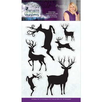 Crafter's Companion SIMPLY STAGS Enchanted Christmas Clear Stamps s-ec-st-simps