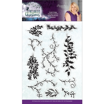 Crafter's Companion FOREST FOLIAGE Enchanted Christmas Clear Stamps s-ec-st-fof