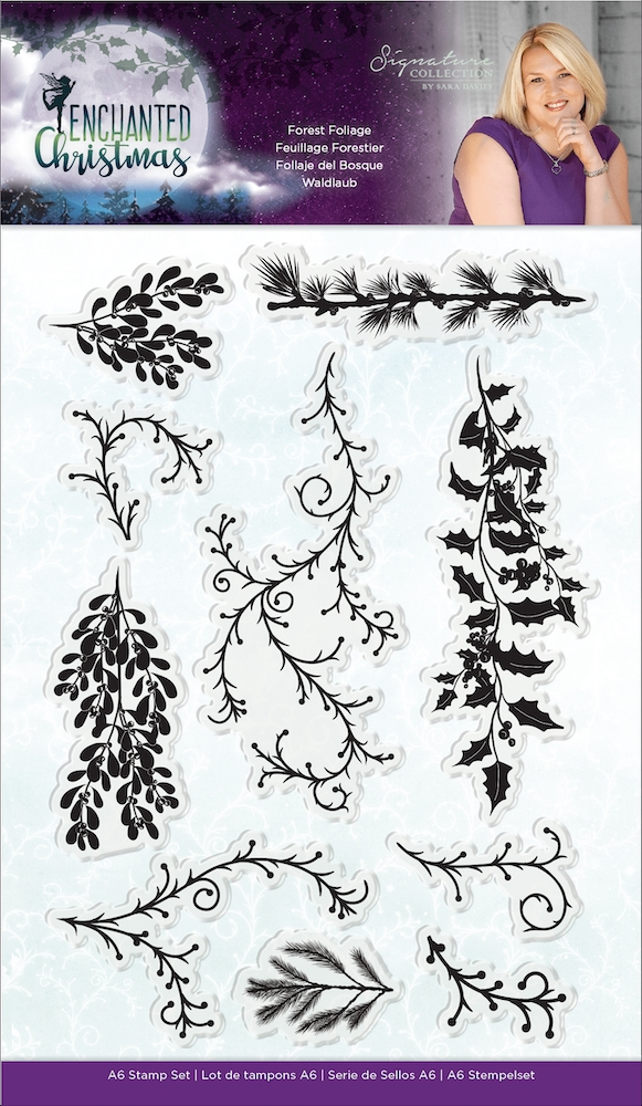 Crafter's Companion FOREST FOLIAGE Enchanted Christmas Clear Stamps s-ec-st-fof zoom image