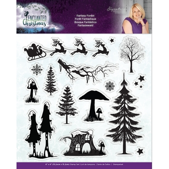 Crafter's Companion FANTASY FOREST Enchanted Christmas Clear Stamps s-ec-st-fanf