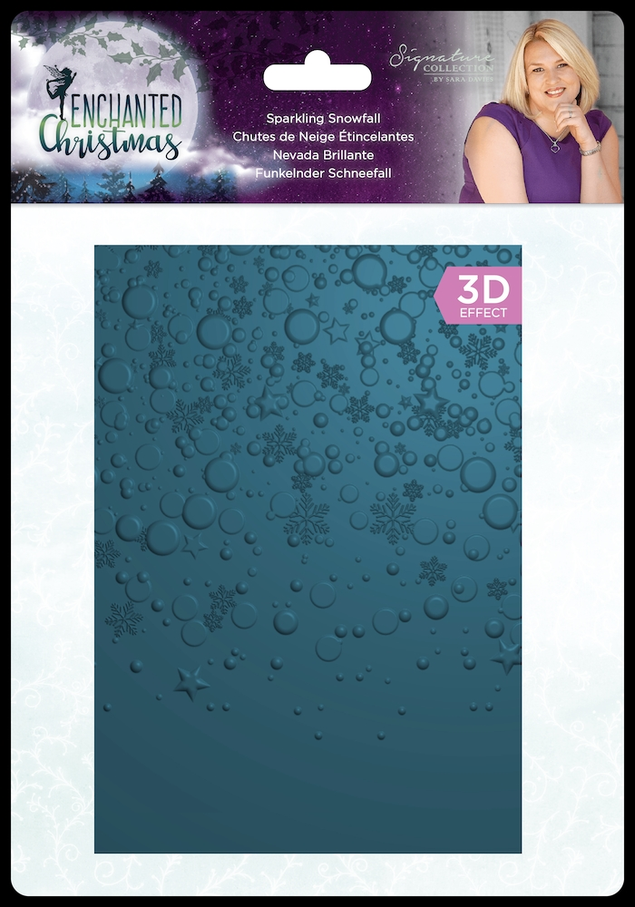 Crafter's Companion SPARKLING SNOWFALL Enchanted Christmas 3D Embossing Folder s-ec-ef5-3d-ssno zoom image