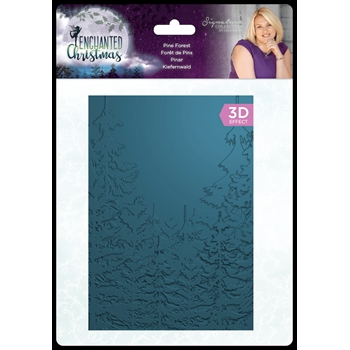 Crafter's Companion PINE FOREST Enchanted Christmas 3D Embossing Folder s-ec-ef5-3d-pinf