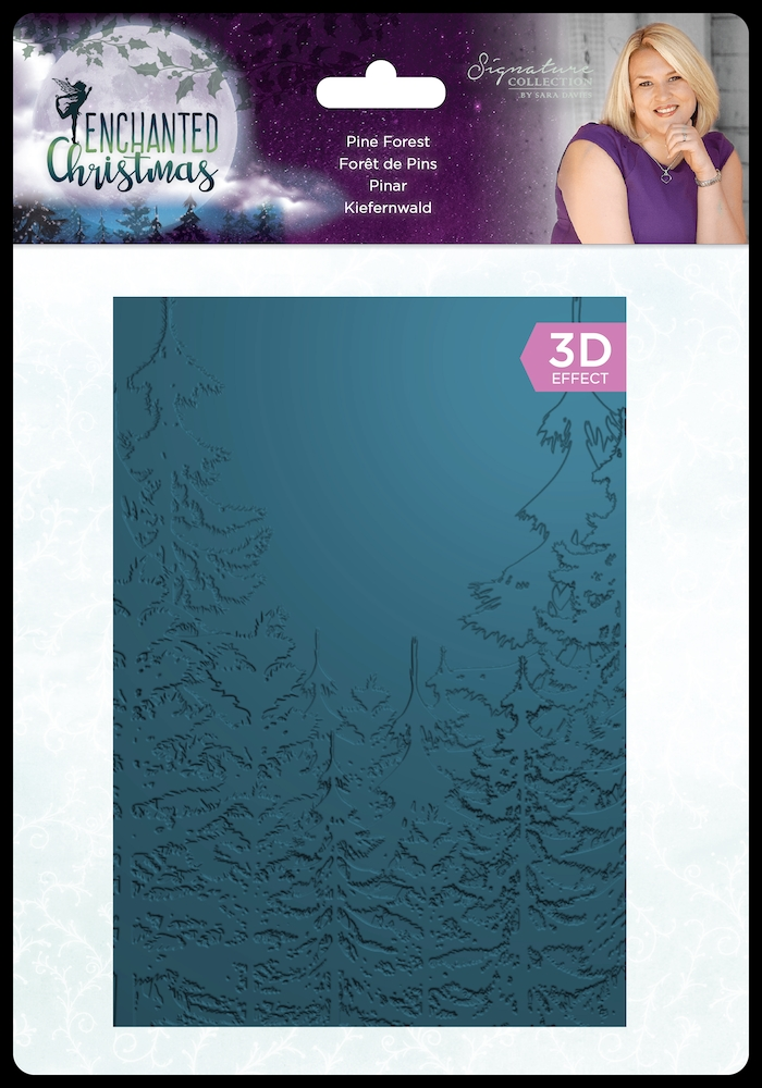 Crafter's Companion PINE FOREST Enchanted Christmas 3D Embossing Folder s-ec-ef5-3d-pinf zoom image