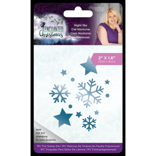 Crafter's Companion NIGHT SKY Enchanted Christmas Foil Stamp Die s-ec-fs-night* Preview Image