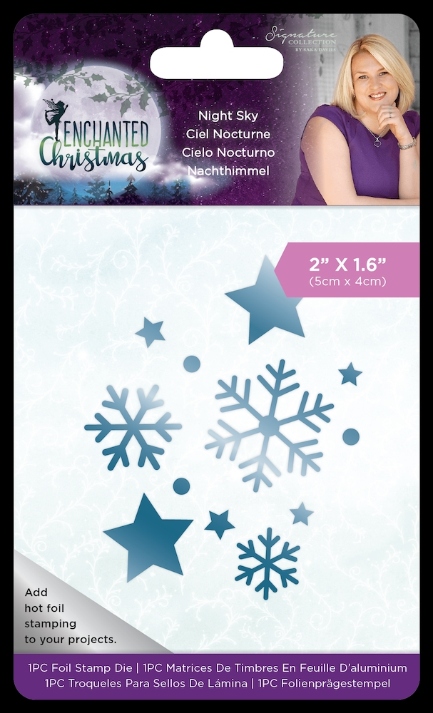 Crafter's Companion NIGHT SKY Enchanted Christmas Foil Stamp Die s-ec-fs-night* zoom image