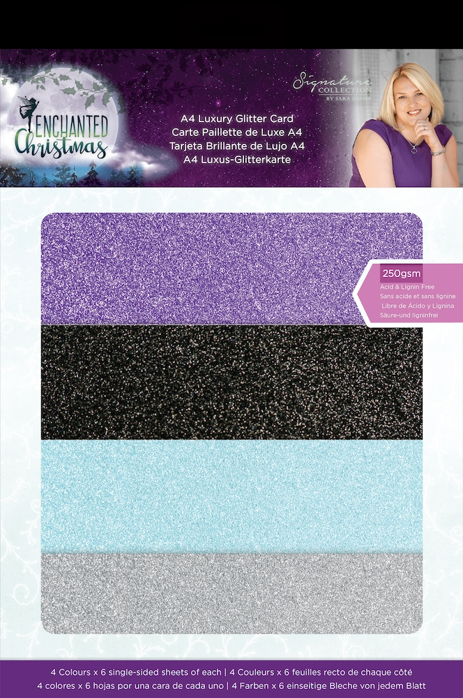 Crafter's Companion ENCHANTED CHRISTMAS Luxury Glitter Card s-ec-glitter zoom image