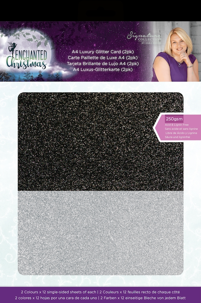 Crafter's Companion ENCHANTED CHRISTMAS Luxury Glitter Card s-ec-glit2pk zoom image