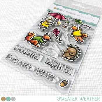 Create A Smile SWEATER WEATHER Clear Stamps clcs120