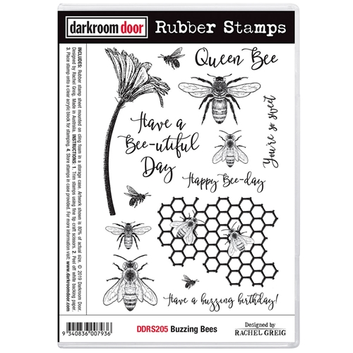 Darkroom Door Cling Stamps BUZZING BEES ddrs205 Preview Image