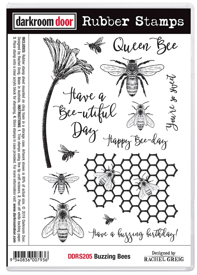 Darkroom Door Cling Stamps BUZZING BEES ddrs205 zoom image