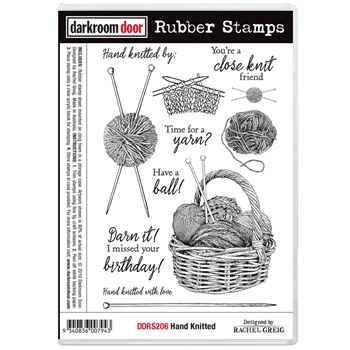 Darkroom Door Cling Stamps HAND KNITTED ddrs206
