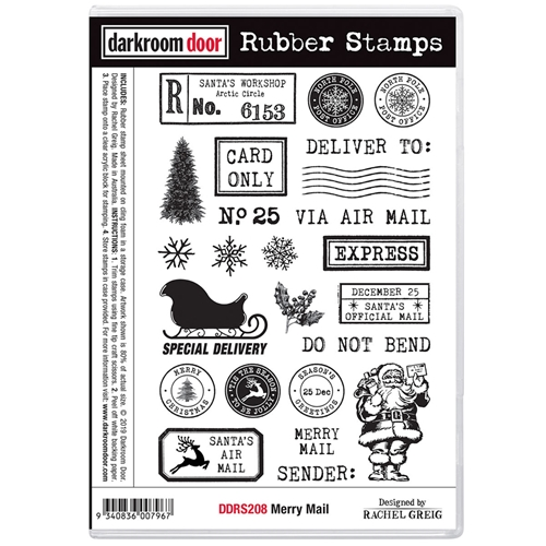Darkroom Door Cling Stamps MERRY MAIL ddrs208 Preview Image