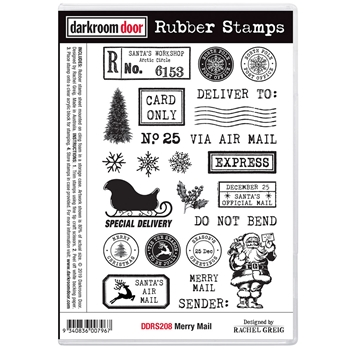 Darkroom Door Cling Stamps MERRY MAIL ddrs208
