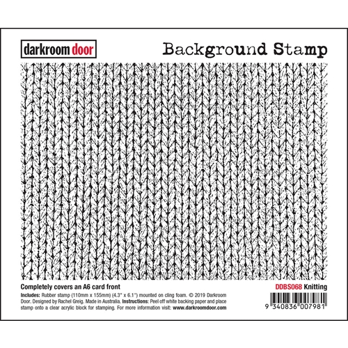 Darkroom Door Cling Stamp KNITTING Background ddbs068 Preview Image
