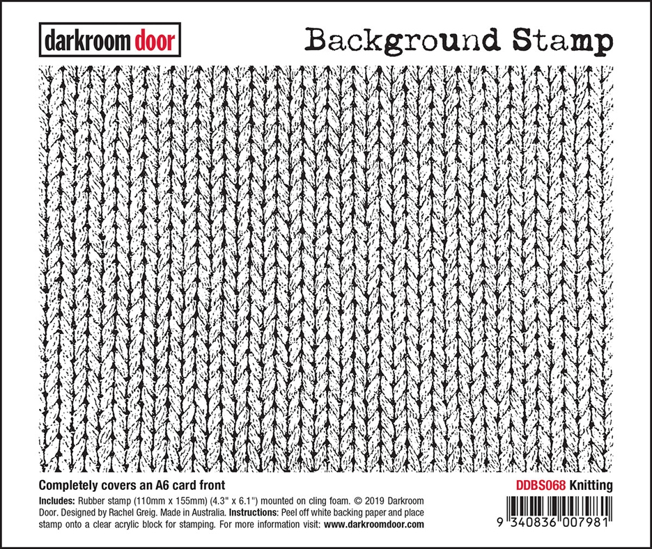 Darkroom Door Cling Stamp KNITTING Background ddbs068 zoom image