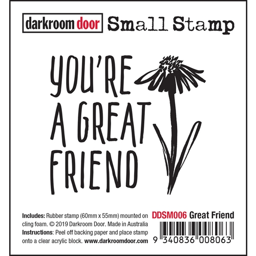 Darkroom Door Cling Stamp GREAT FRIEND Small ddsm006 Preview Image