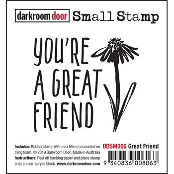 Darkroom Door Cling Stamp GREAT FRIEND Small ddsm006