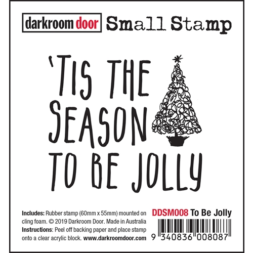 Darkroom Door Cling Stamp TO BE JOLLY Small ddsm008 Preview Image