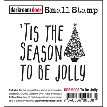 Darkroom Door Cling Stamp TO BE JOLLY Small ddsm008