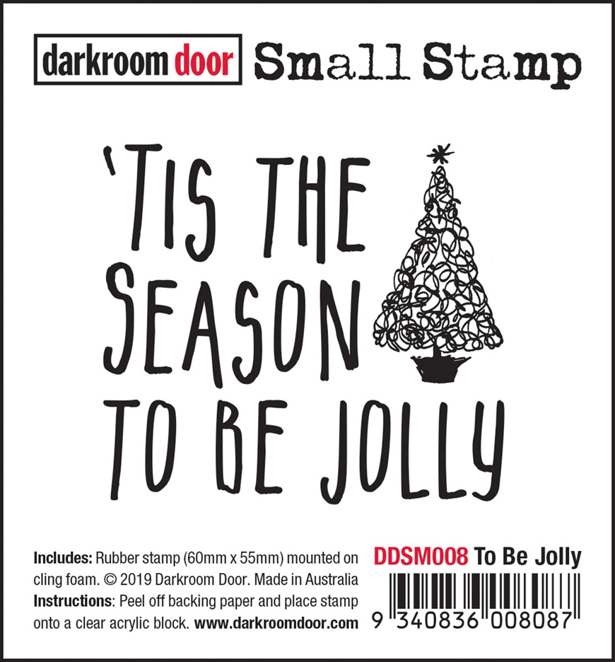Darkroom Door Cling Stamp TO BE JOLLY Small ddsm008 zoom image