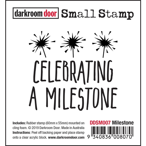Darkroom Door Cling Stamp MILESTONE Small ddsm007 Preview Image