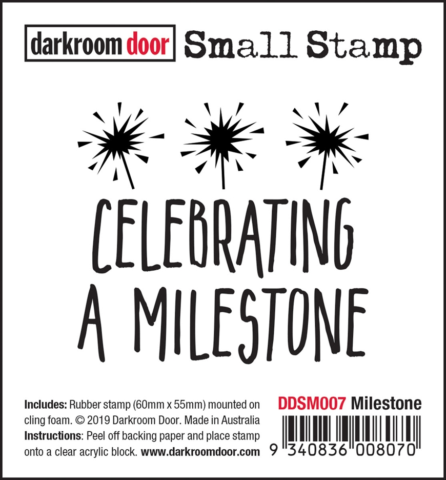 Darkroom Door Cling Stamp MILESTONE Small ddsm007 zoom image
