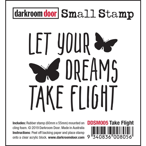 Darkroom Door Cling Stamp TAKE FLIGHT Small ddsm005* Preview Image