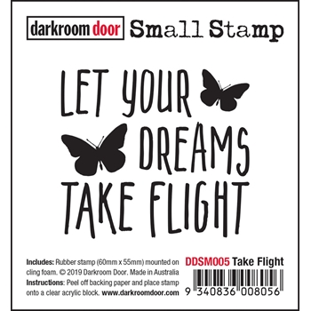 Darkroom Door Cling Stamp TAKE FLIGHT Small ddsm005
