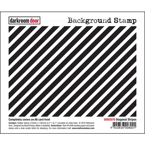 Darkroom Door Cling Stamp DIAGONAL STRIPES Background ddbs070 Preview Image