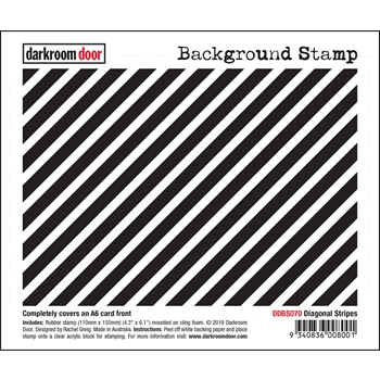 Darkroom Door Cling Stamp DIAGONAL STRIPES Background ddbs070