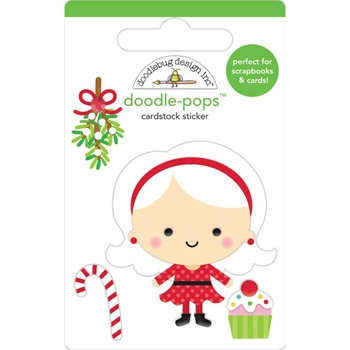 Doodlebug MRS. CLAUS Doodle Pops 3D Stickers Christmas Magic 6455