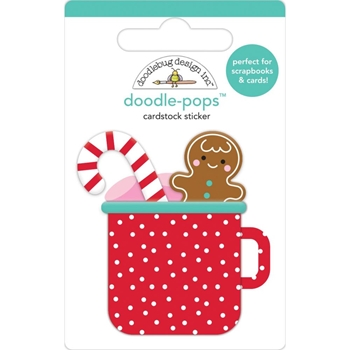 Doodlebug HOT COCOA Doodle Pops 3D Sticker Christmas Magic 6456