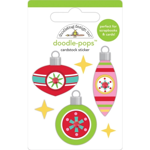 Doodlebug DECK THE HALLS Doodle Pops 3D Stickers Christmas Magic 6460 Preview Image