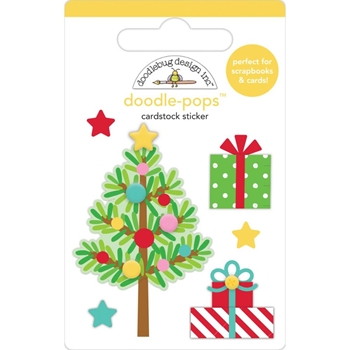 Doodlebug TRIM THE TREE Doodle Pops 3D Stickers Christmas Magic 6459
