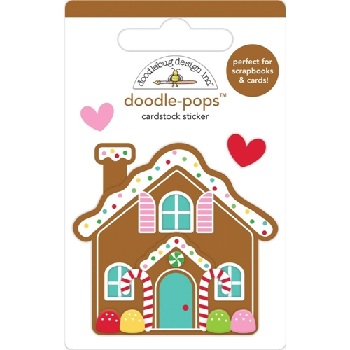 Doodlebug COOKIE COTTAGE Doodle Pops 3D Stickers Christmas Magic 6458 Preview Image