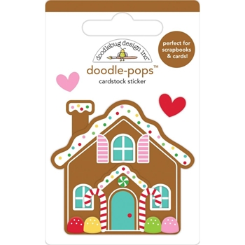 Doodlebug COOKIE COTTAGE Doodle Pops 3D Stickers Christmas Magic 6458
