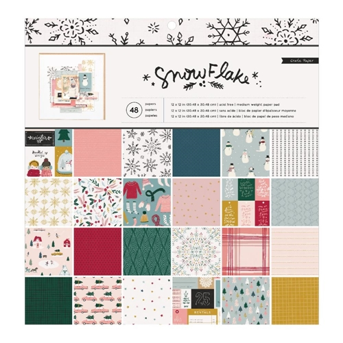 Crate Paper SNOWFLAKE 12 x 12 Paper Pad 350976 Preview Image