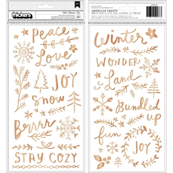 Crate Paper SNOWFLAKE Accent Thickers Stickers 350978