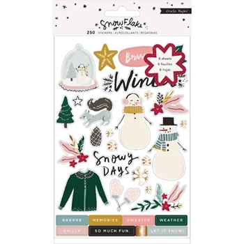 Crate Paper SNOWFLAKE Sticker Book 350983