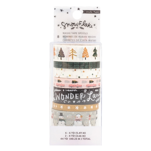 Crate Paper SNOWFLAKE Washi Tape 350987 Preview Image