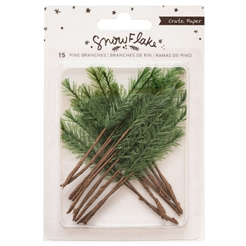 Crate Paper SNOWFLAKE Pine Branches 350986