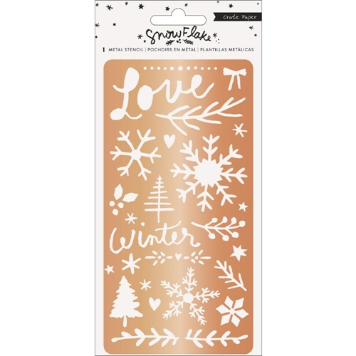 Crate Paper SNOWFLAKE Metal Stencil 350991 Preview Image